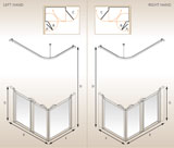AKW 91189 R    Option A 1200x760 Shower Screen with Right Handing    OUR PRICE £314.00