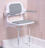 AKW 02130 P      Fold up Seat with Grey Padded Arms and Grey Padded Seat       OUR PRICE £134.99!!